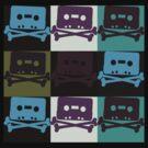 Music Tape Skull and Bones by retrorebirth