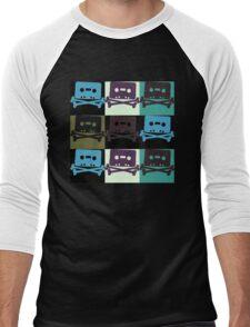 Music Tape Skull and Bones Men's Baseball ¾ T-Shirt