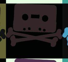 Music Tape Skull and Bones Sticker