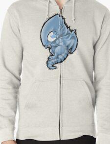 Blue Eyes Chibi Dragon Zipped Hoodie