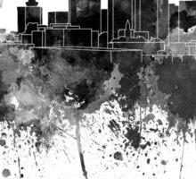 Nashville skyline in black watercolor Sticker