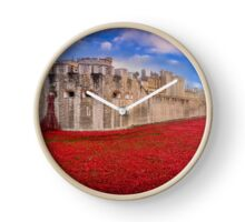 Tower Of London Poppies 2014 Clock