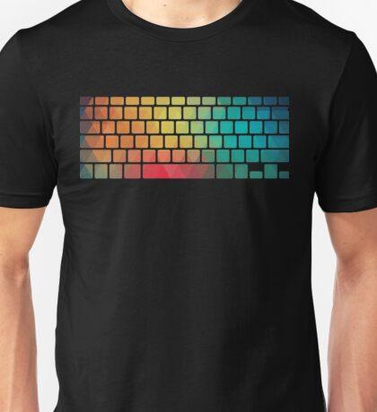 Rainbow color pattern keyboard Unisex T-Shirt