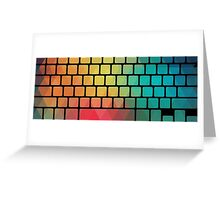 Rainbow color pattern keyboard Greeting Card