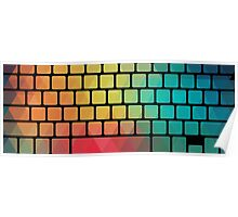 Rainbow color pattern keyboard Poster