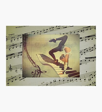 The Piano Gymnast Photographic Print