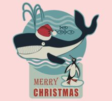 Santa Claus and the Whale.... One Piece - Long Sleeve