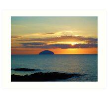 Sunset over Ailsa Craig Art Print