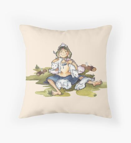 Raising Pups Throw Pillow