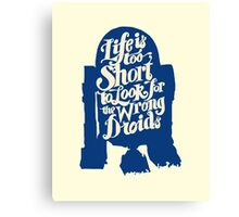 Life is too short to look for the wrong droids Canvas Print