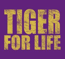 Tiger for Life -Gold and Purple by JayJaxon