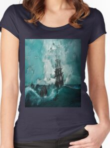 Ship Painting Women's Fitted Scoop T-Shirt