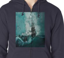 Ship Painting Zipped Hoodie