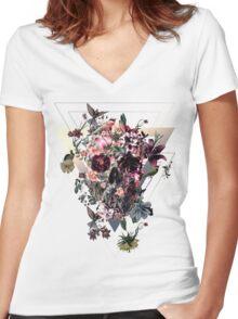New Skull Women's Fitted V-Neck T-Shirt
