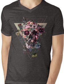 New Skull Mens V-Neck T-Shirt