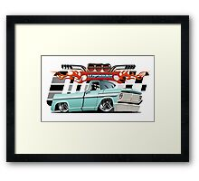 Cartoon retro lowrider Framed Print