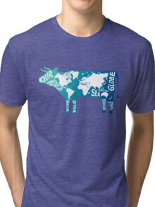 Moo Globe Tri-blend T-Shirt