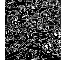 ZOMBIES! WHITE ON BLACK Photographic Print