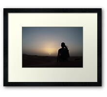 White Sunset Framed Print