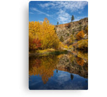 Autumn In The Susan River Canyon Canvas Print