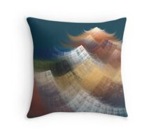 The Path to the Mountain Throw Pillow