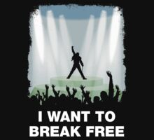 I want to break free One Piece - Short Sleeve