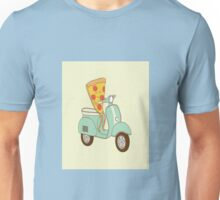 Moped Pizza Unisex T-Shirt