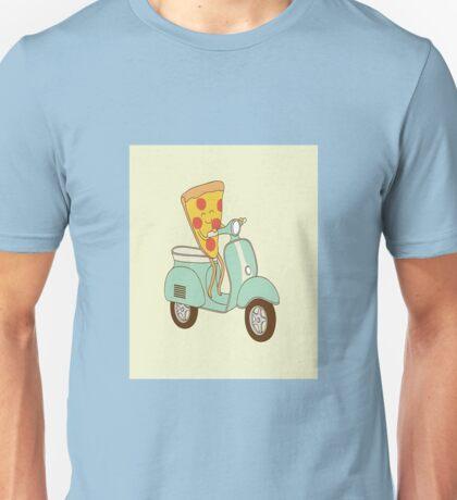Moped Pizza Unisex T-Shirt