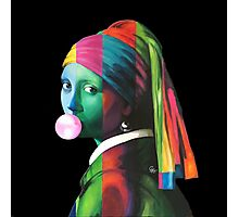 Pop Vermeer Bubble Girl Photographic Print