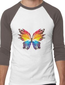 color butterfly Men's Baseball ¾ T-Shirt