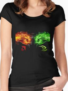 AMD vs Nvidia Women's Fitted Scoop T-Shirt