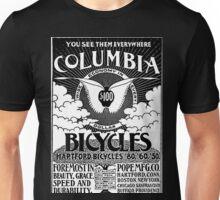 Vintage Columbia Bicycles Advertisement Unisex T-Shirt