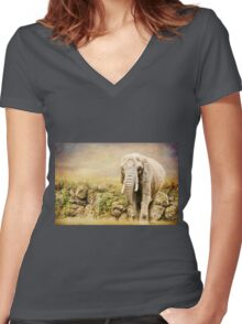 The Viewing Women's Fitted V-Neck T-Shirt