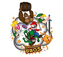 Smashing Bros Photographic Print