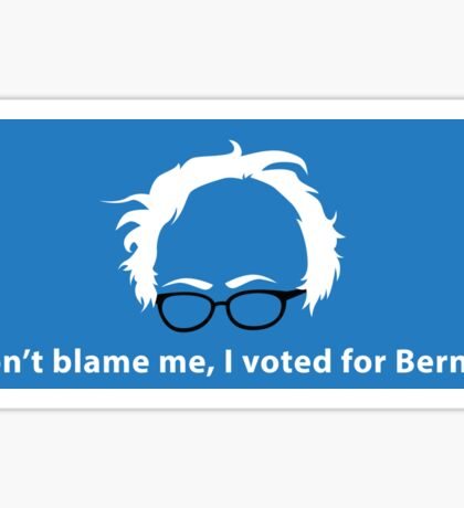 Don't Blame Me, I Voted For Bernie Sticker