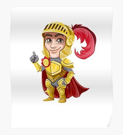 Cute Vector Graphic Warrior  Poster