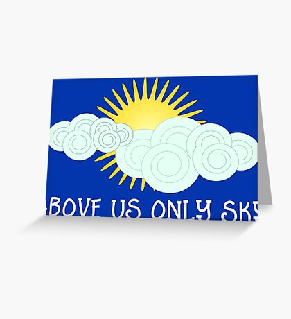 Above Us Only Sky - John Lennon Greeting Card