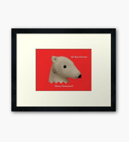 All That Glitters: Polar Bear with Ear-ring Framed Print