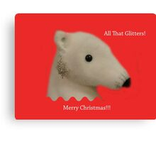 All That Glitters: Polar Bear with Ear-ring Canvas Print
