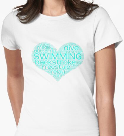 I Love Swim  Womens Fitted T-Shirt