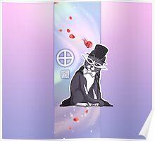 Tuxedo Cat (Gradient) Poster