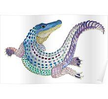 Watercolor Alligator Poster