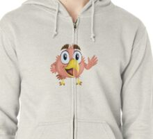 Funny Lovely Vector Graphic Birds For Birds Animal Lovers Zipped Hoodie