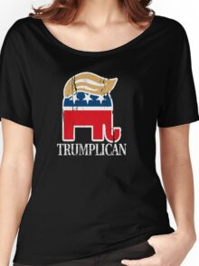 Funny and Bold Trump Elephant with Hair - TRUMPLICAN Women's Relaxed Fit T-Shirt