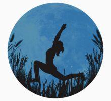 Yoga Moon Posture - Blue Kids Tee
