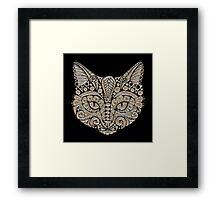 Tribal Cat Portrait Framed Print
