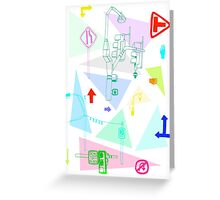Road maps Greeting Card