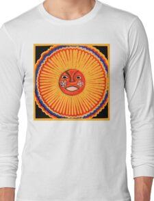 Huichol Native American Art, The sun Long Sleeve T-Shirt