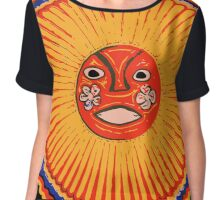 Huichol Native American Art, The sun Chiffon Top