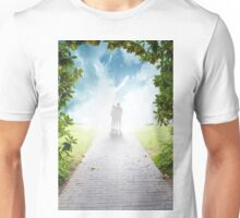 silhouette of two tourists at a crossroads Unisex T-Shirt